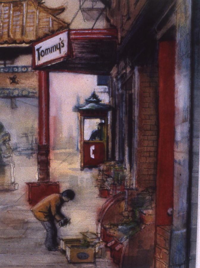 Chinatown Painting - Chinatown Victoria by Victoria Heryet