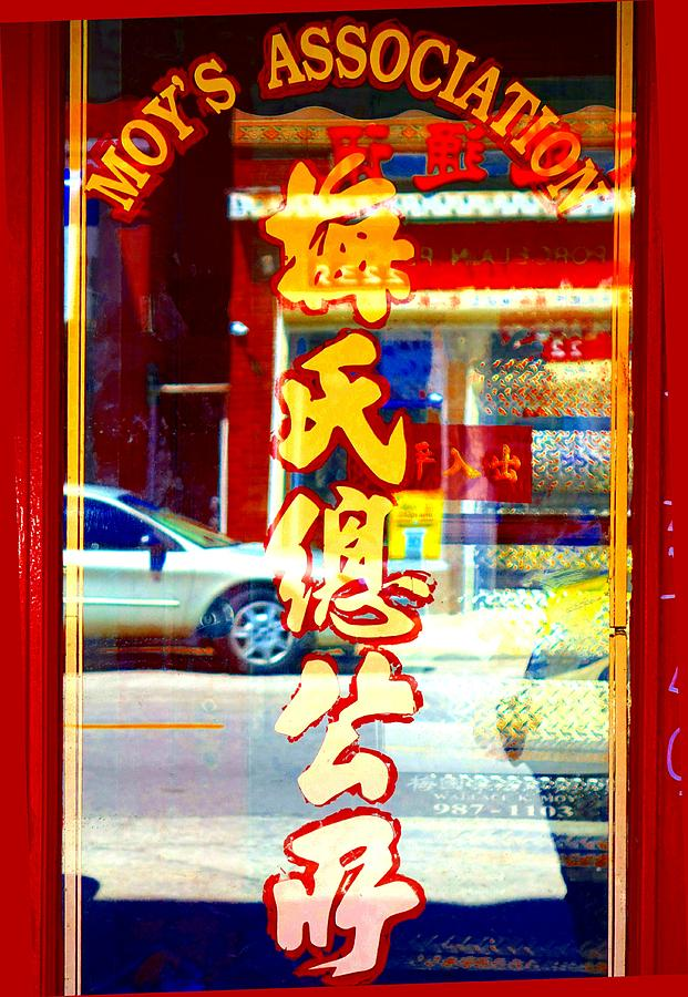 China Town Photograph - Chinatown Window Reflection 1 by Marianne Dow