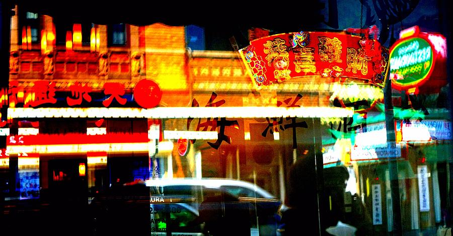 China Town Photograph - Chinatown Window Reflections 2 by Marianne Dow