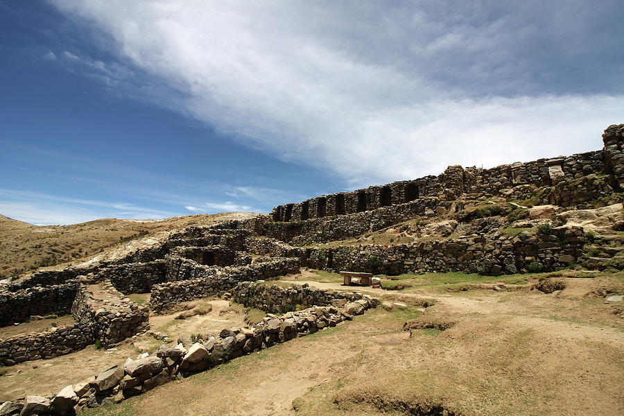 Chincana Ruins On The Isla Del Sol Photograph