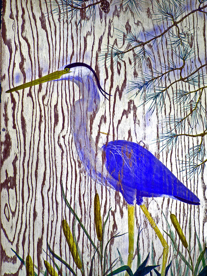 Blue Heron Painting - Chincoteague Heron by Kim