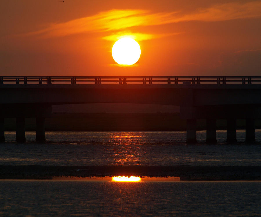 Sunset Photograph - Chincoteague Island Bay by Kim