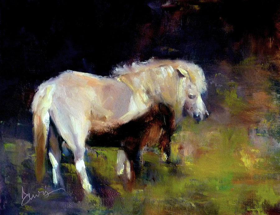 Chincoteague Pony Painting - Chincoteague Pony by Xx X
