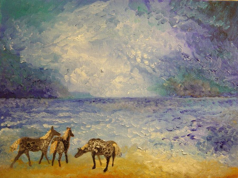 Oil Painting Painting - Chincoteague Stormfront by Ronald Johnson