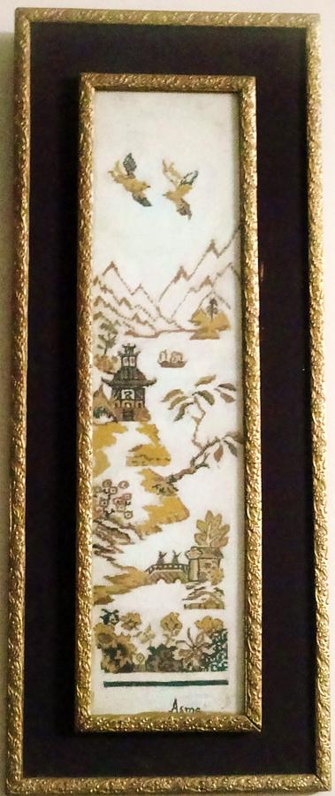Scenery Painting - Chinese Art by Asma Naqi