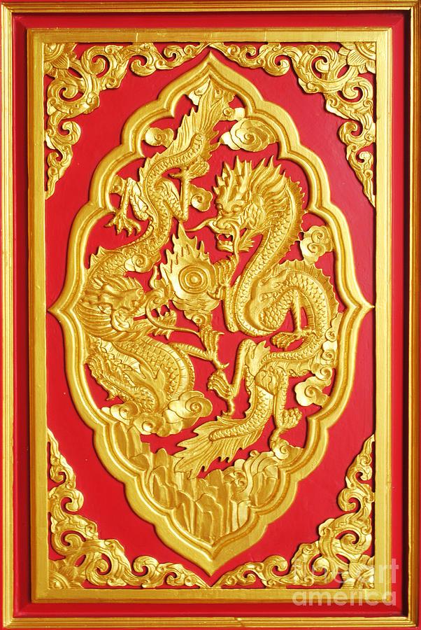 Chinese Ceramic Art - Chinese Design by Somchai Suppalertporn