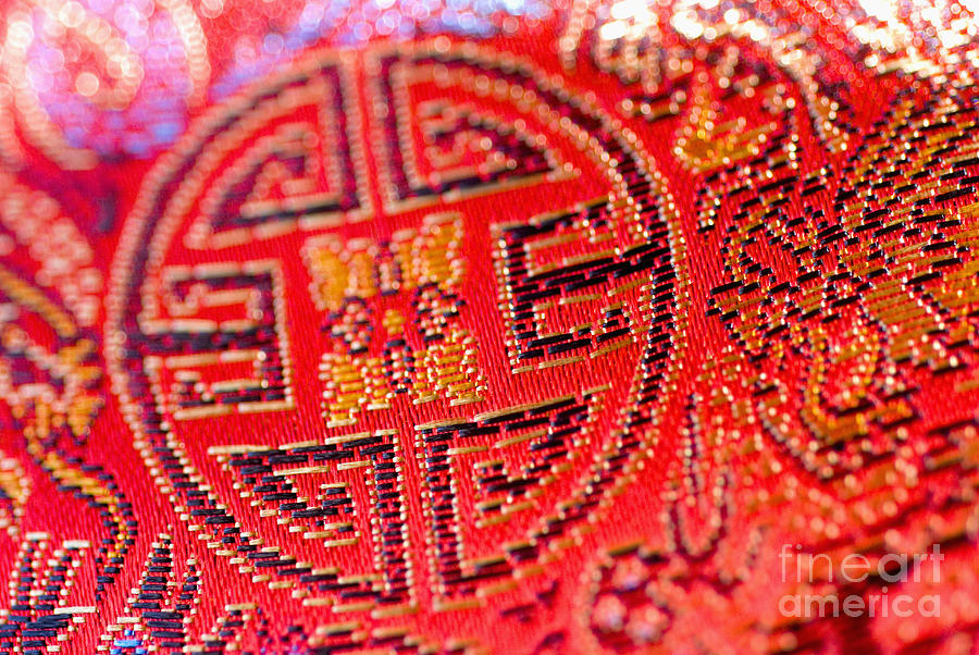 Beautiful Photograph - Chinese Embroidery by Ray Laskowitz - Printscapes