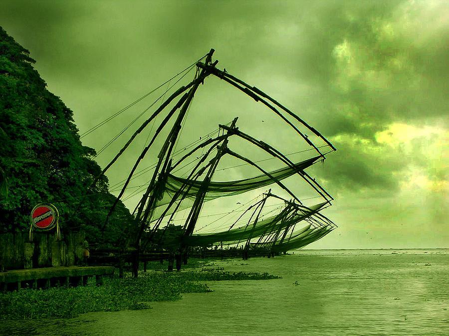 Sea Photograph - Chinese Fishing Net by Farah Faizal