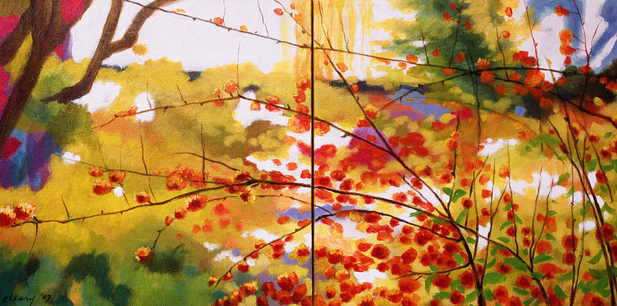Landscape Painting - Chinese Garden Grace by Melody Cleary