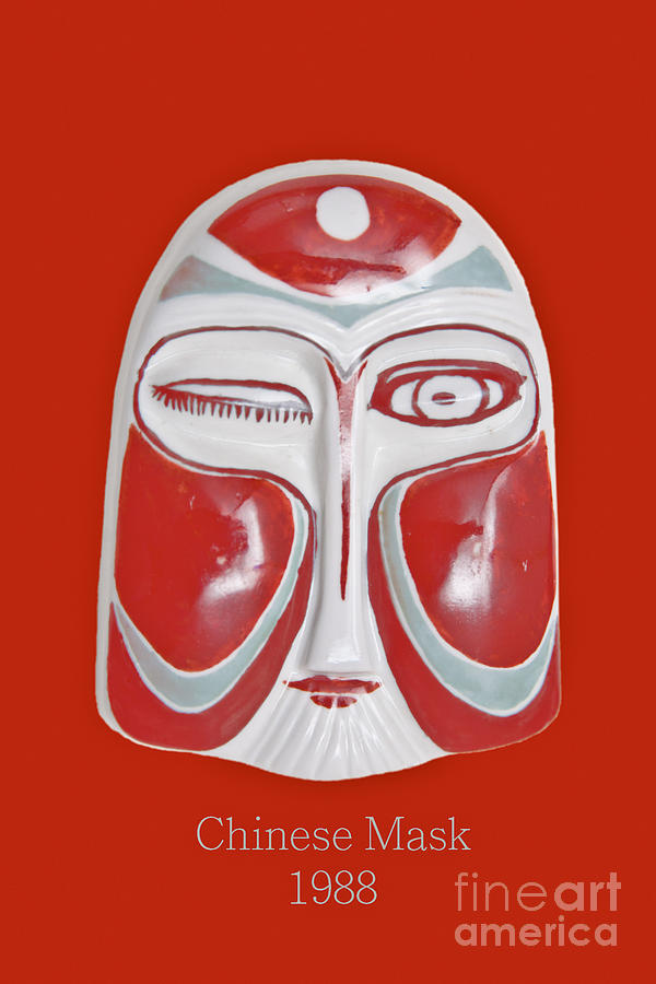 Chinese Porcelain Mask Red Photograph