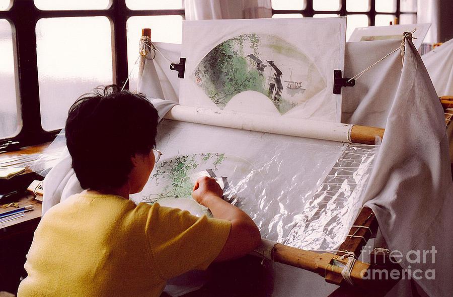 China Photograph - Chinese Silk by Andrea Simon