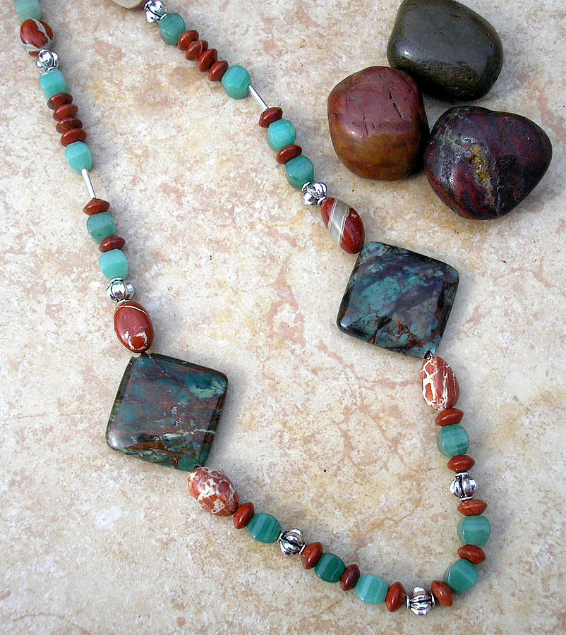 Necklace Jewelry - Chinese Turquoise And  by Angie DElia