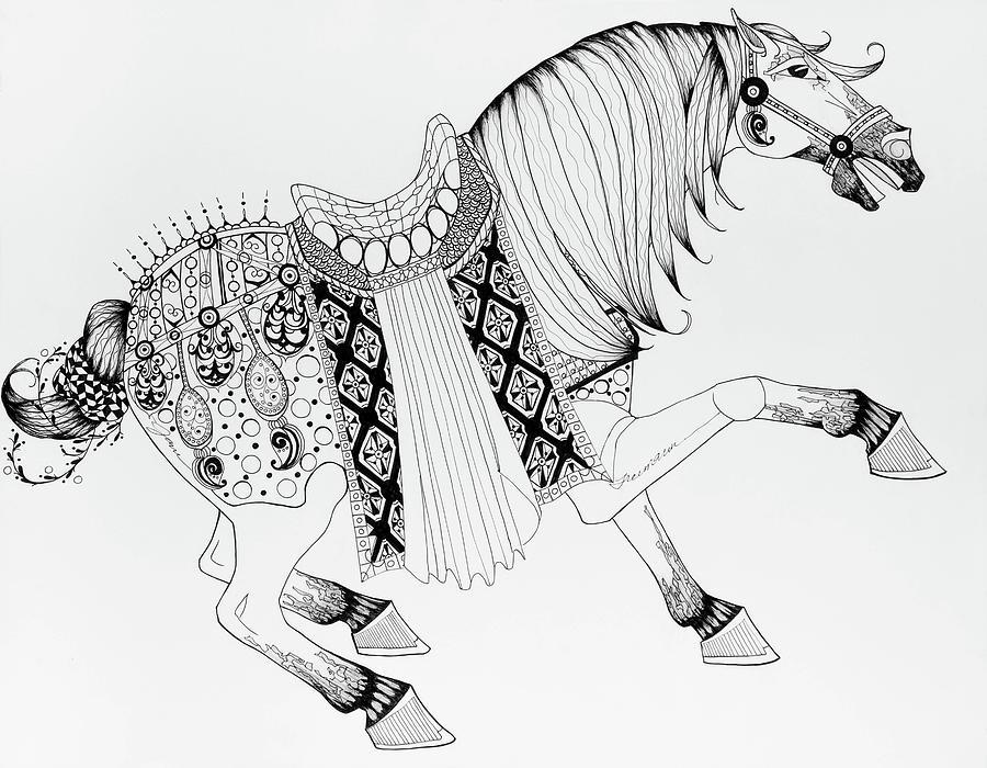 Chinese War Horse 2 Drawing