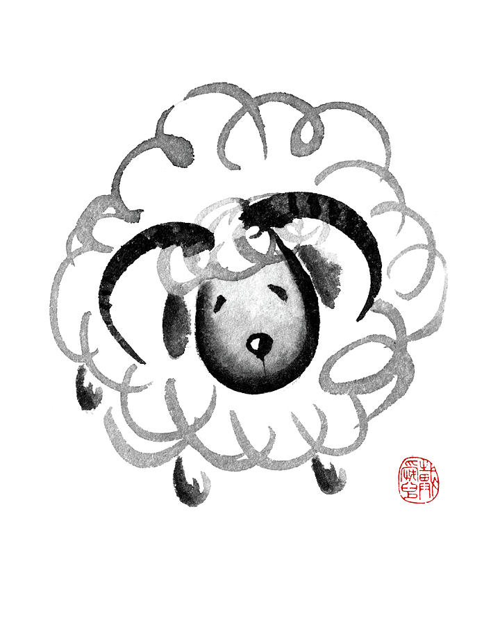 Chinese Zodiac for Year of the Goat by Oiyee At Oystudio
