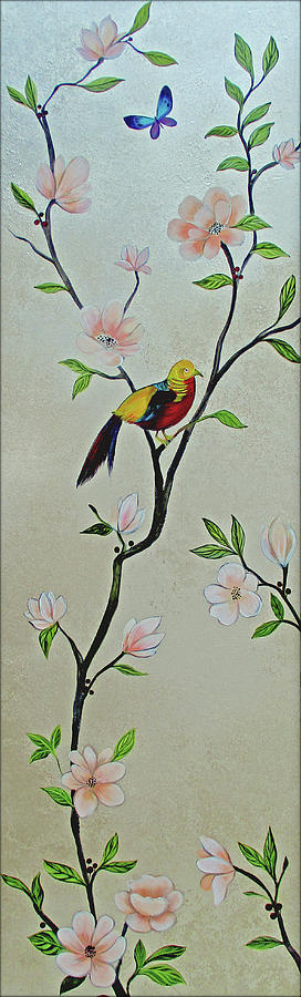 Chinoiserie - Magnolias And Birds #1 Painting