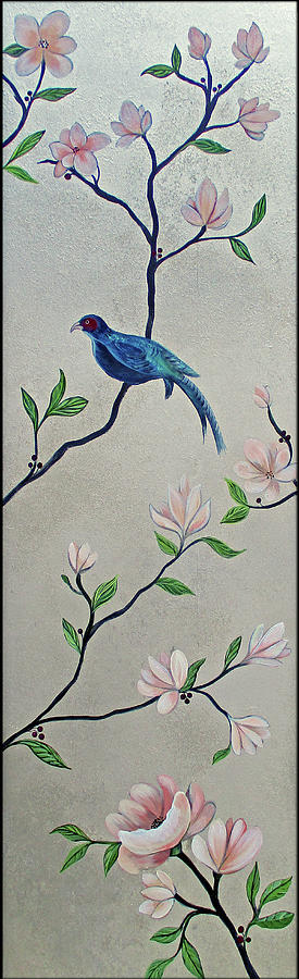 Chinoiserie - Magnolias And Birds #4 Painting