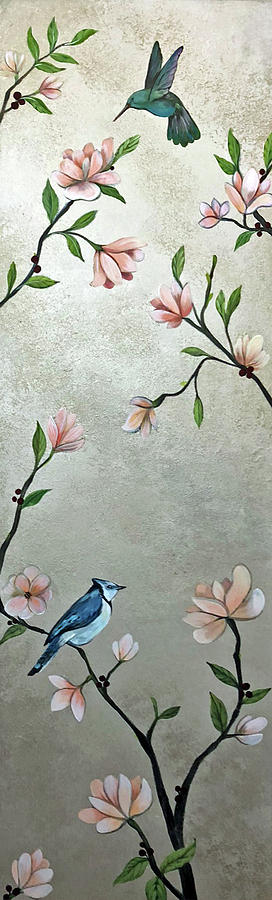 Chinoiserie - Magnolias And Birds Painting