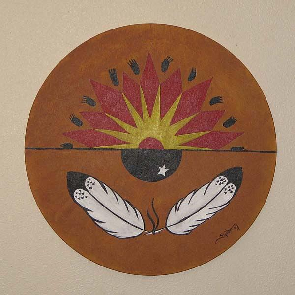 Chippewa War Drum Painting by Spider Ryan