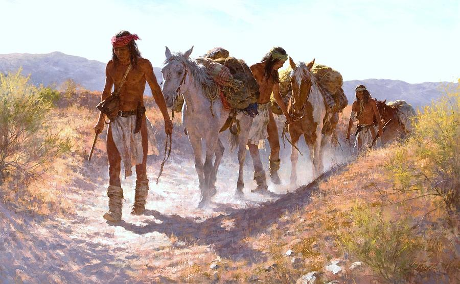 Chiricahua Apache S On The Dusty Trail Painting By