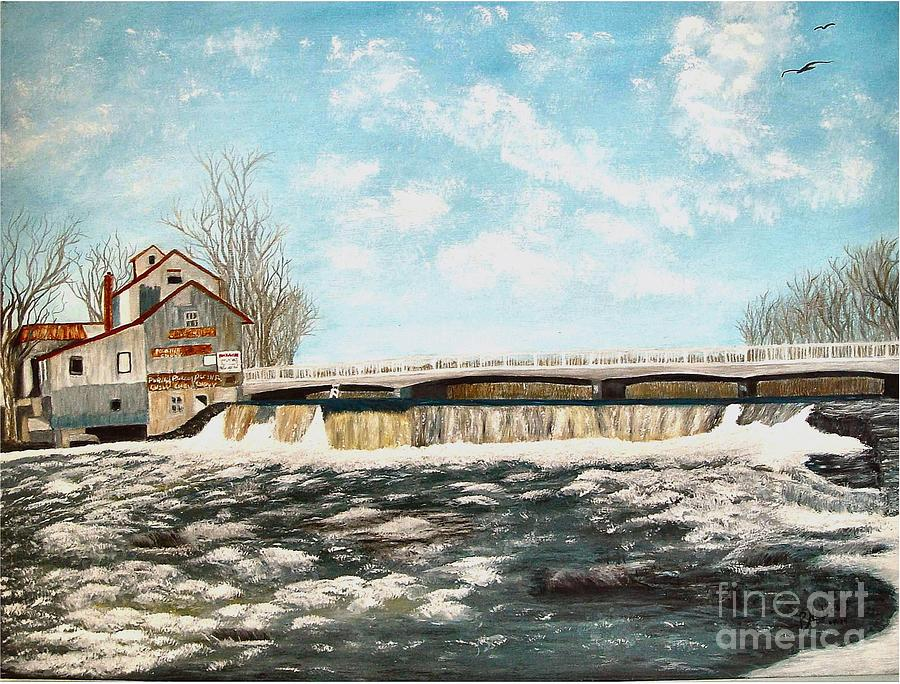 Chisholms Mill Painting by Peggy Holcroft