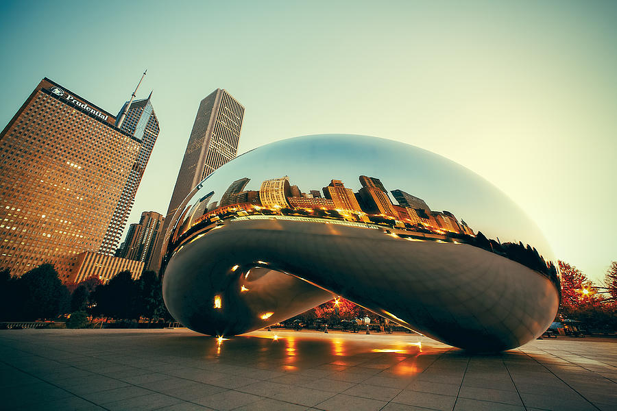 Skyline Photograph - Chitown Bean by Todd Klassy