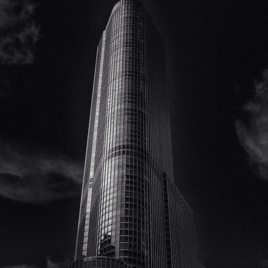 Trump Photograph - #chitown #chicity #chicago #chicagobean by David Haskett II
