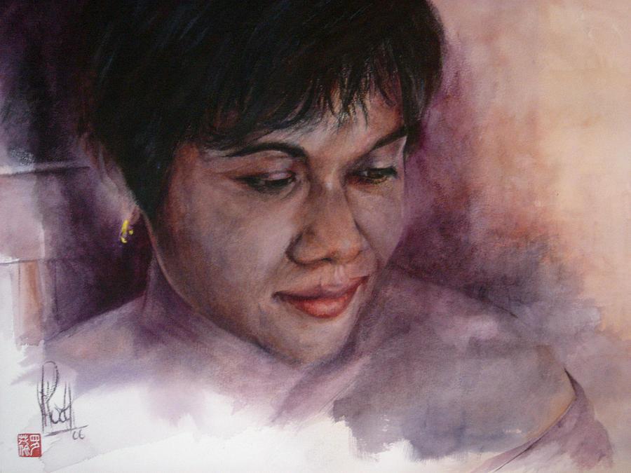 Portrait Painting - Chitra by Alan Kirkland-Roath