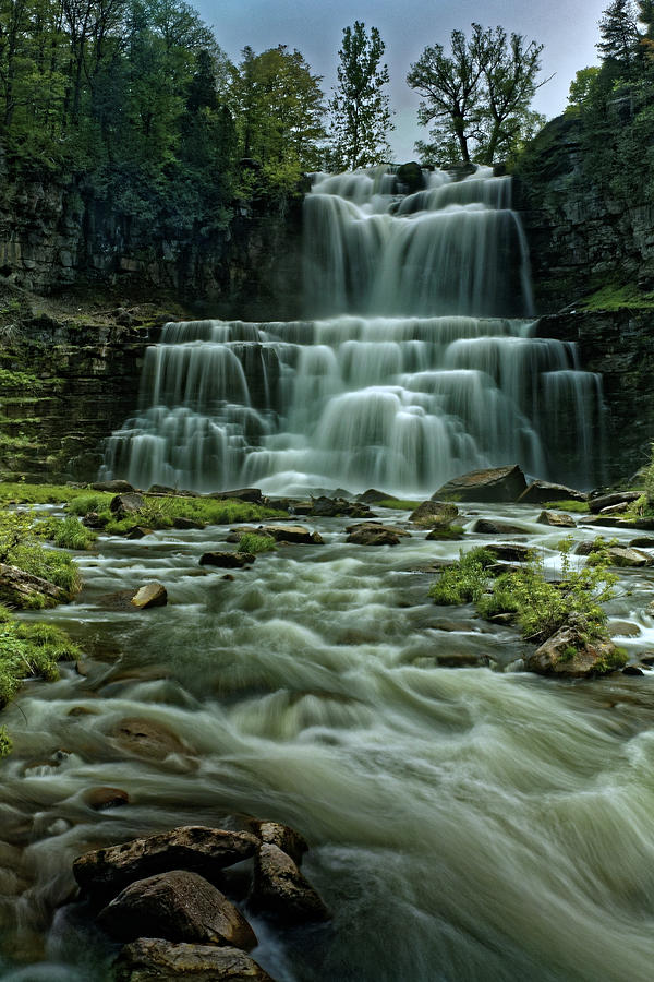 Fingerlakes Photograph - Chittanengo Falls by Doolittle Photography and Art