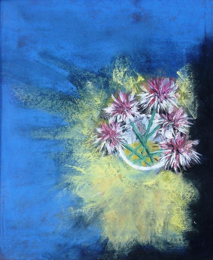 Painting Pastel - Chive Blossom by Thomas Armstrong