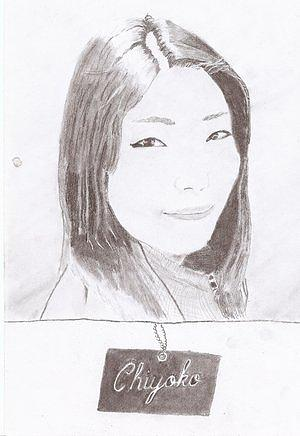 Chiyoko Drawing by Robbie Johnston