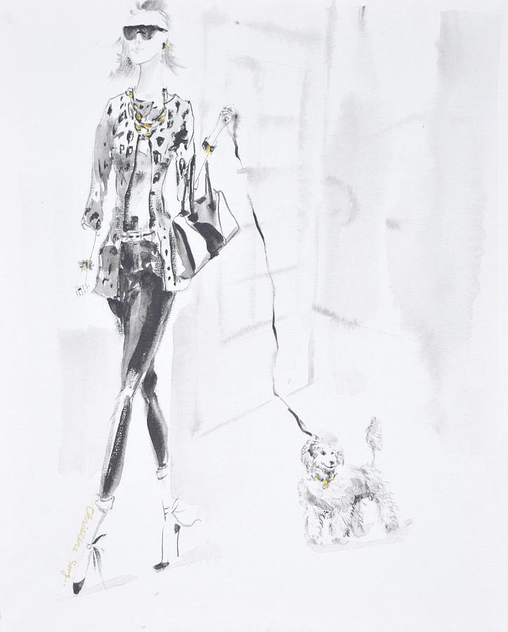Fashion Illustration Painting - Chloe No.1 by Christine Song