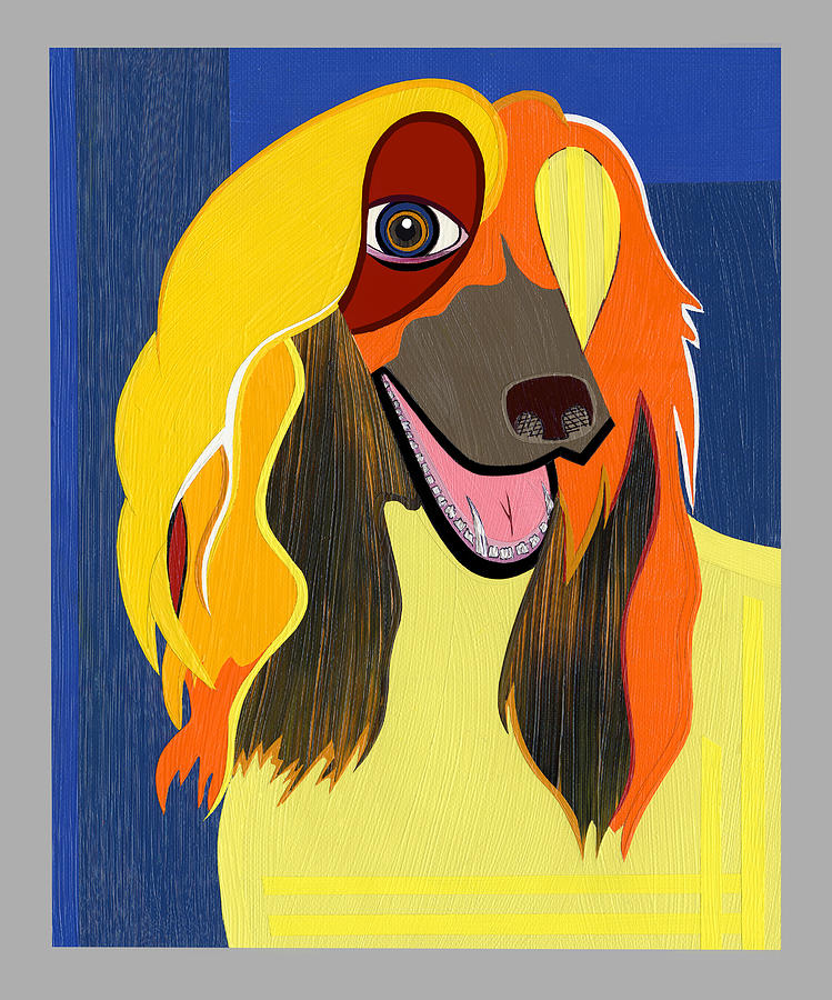 Surrealism Painting - Chloe The Afghan Hound by Ruby Persson
