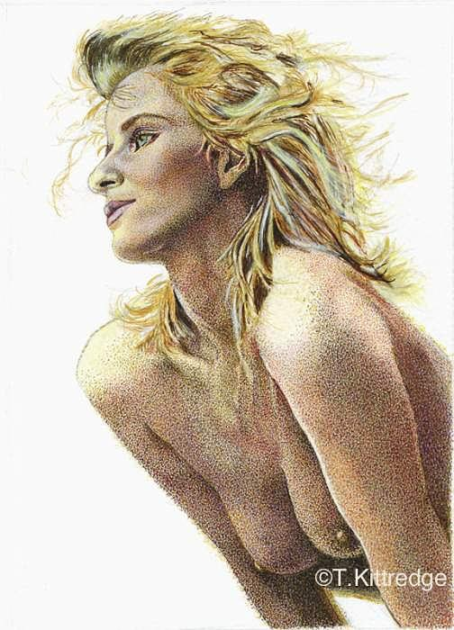 Nude Portrait Painting - Chloe by Tricia Kittredge