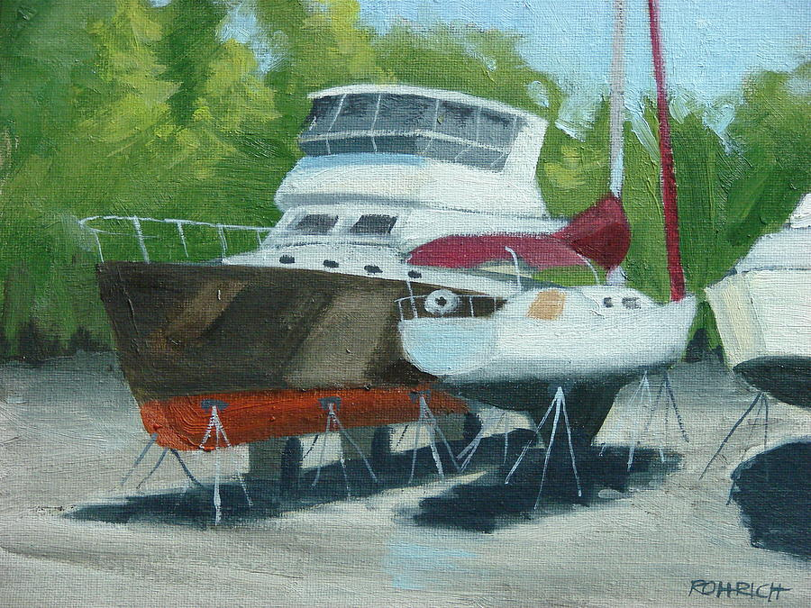 Boatyard Painting - Chocolate And Champagne by Robert Rohrich