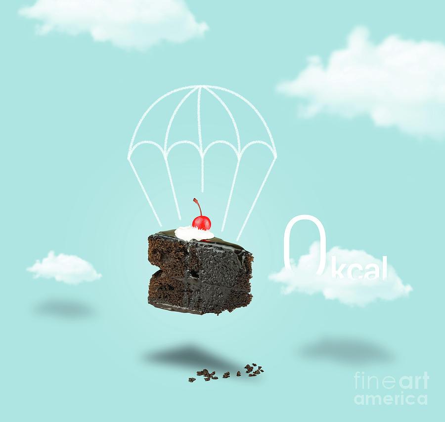 Chocolate Cherry Cake Parachute Photograph