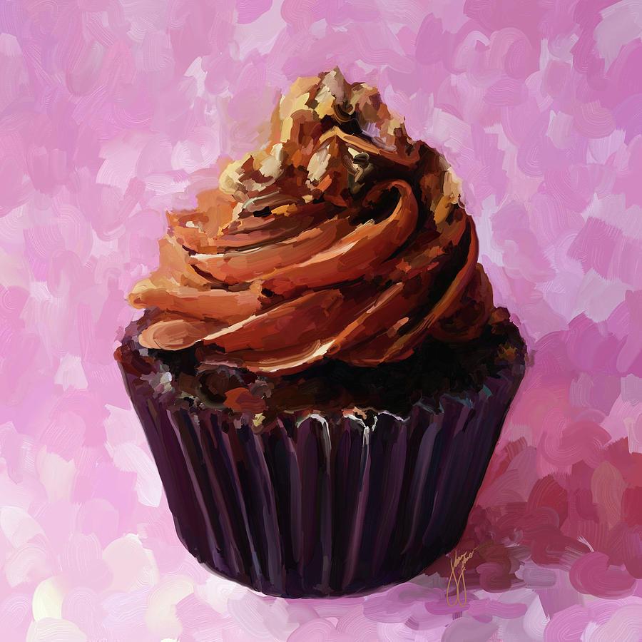 Chocolate Cupcake Painting By Jai Johnson