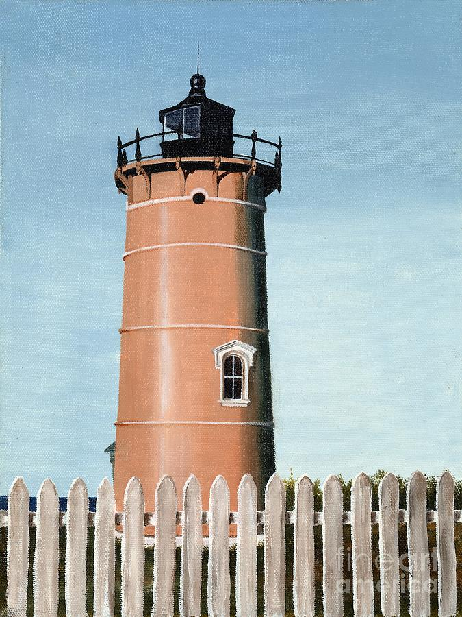 Lighthouse Painting - Chocolate Lighthouse by Mary Rogers