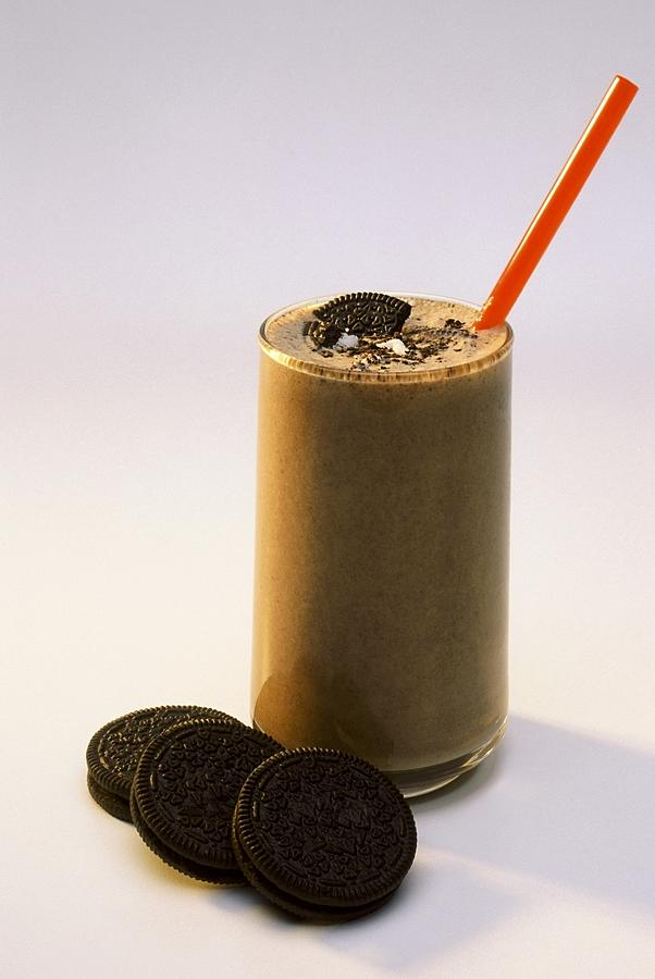 Chocolate Cookies Photograph - Chocolate Milk With Cookies by Ron Nickel
