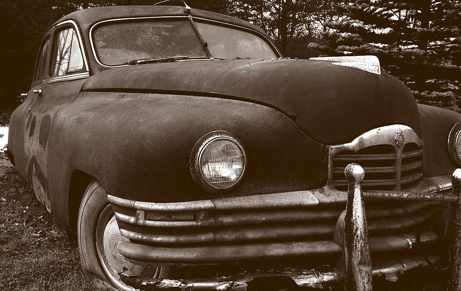 Old Car Photograph - Chocolate Moose by Jean Macaluso