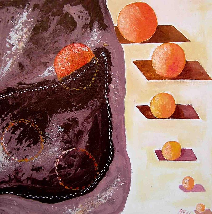 Chocolate Pocket Painting by Evguenia Men