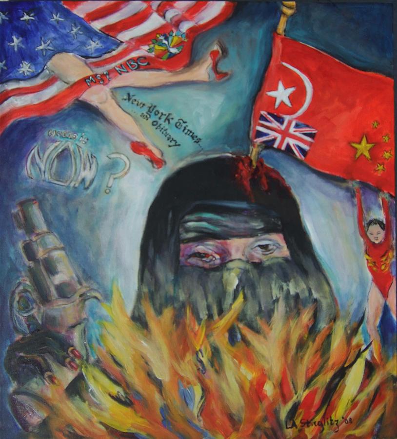 Burkah Painting - Chodors Afire by Lee Anne Stieglitz