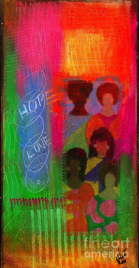 Women Mixed Media - Choir Girls by Angela L Walker