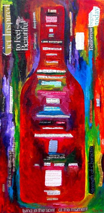 Wine Painting - Choose Strength by Patti Schermerhorn