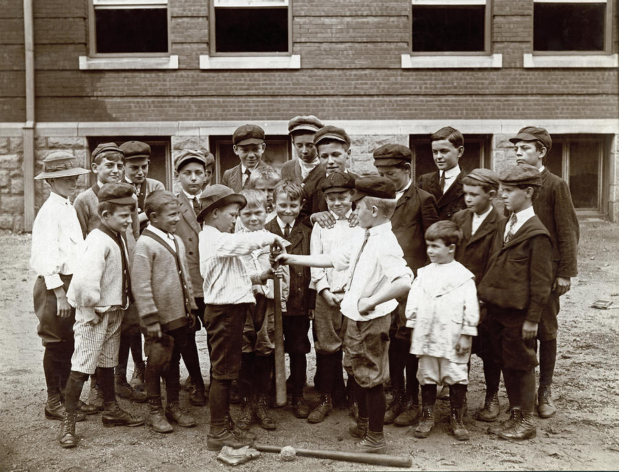1895 Photograph - Choosing Baseball Teams by Harvey Porch
