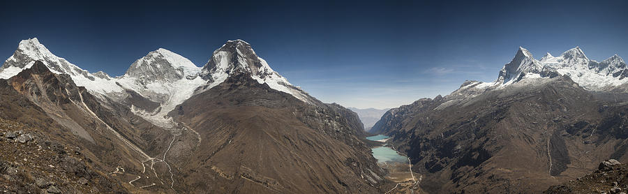 Chopicalqui And Huandoy Mountain Peaks Photograph by Colin Monteath