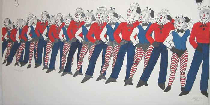 Original Painting - Chorus Line by Joanie Arvin