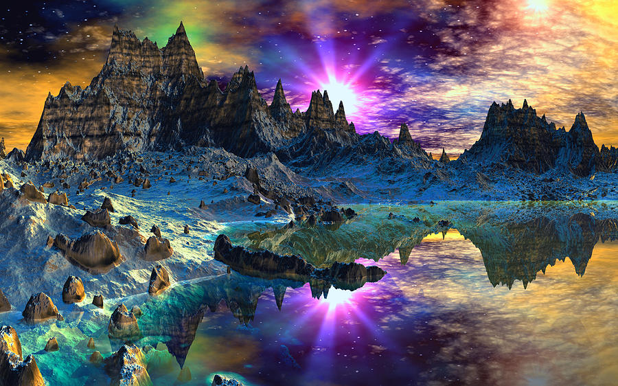 Chosen Hills Sunrise Digital Art by David Jackson