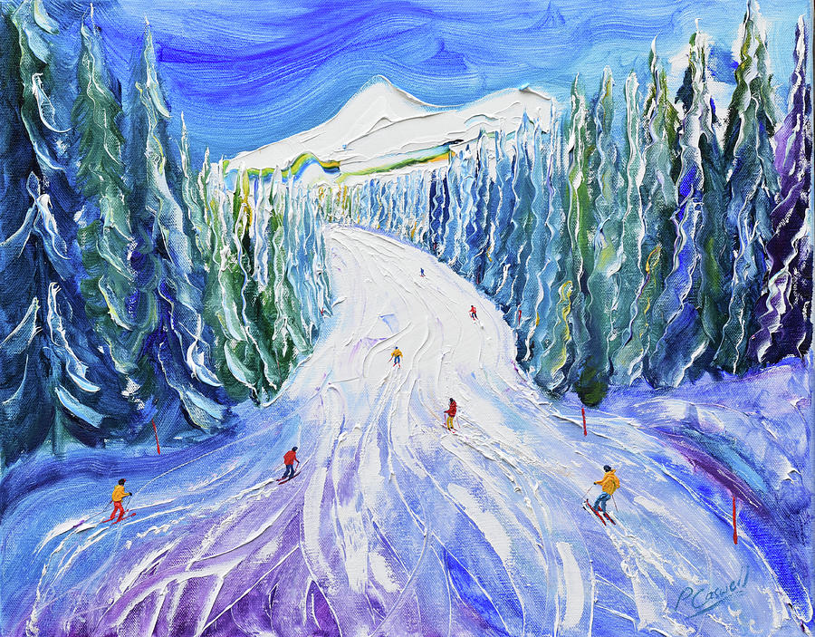 Morzine Painting - Choucas Piste by Pete Caswell