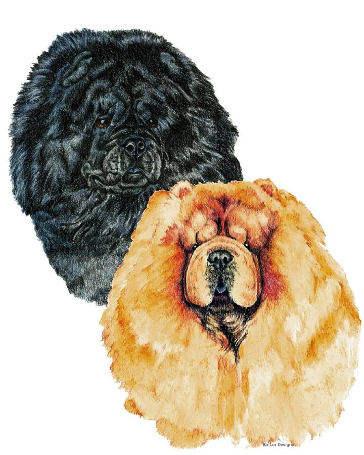 Chow Chow Painting - Chow Chows by Kathleen Sepulveda