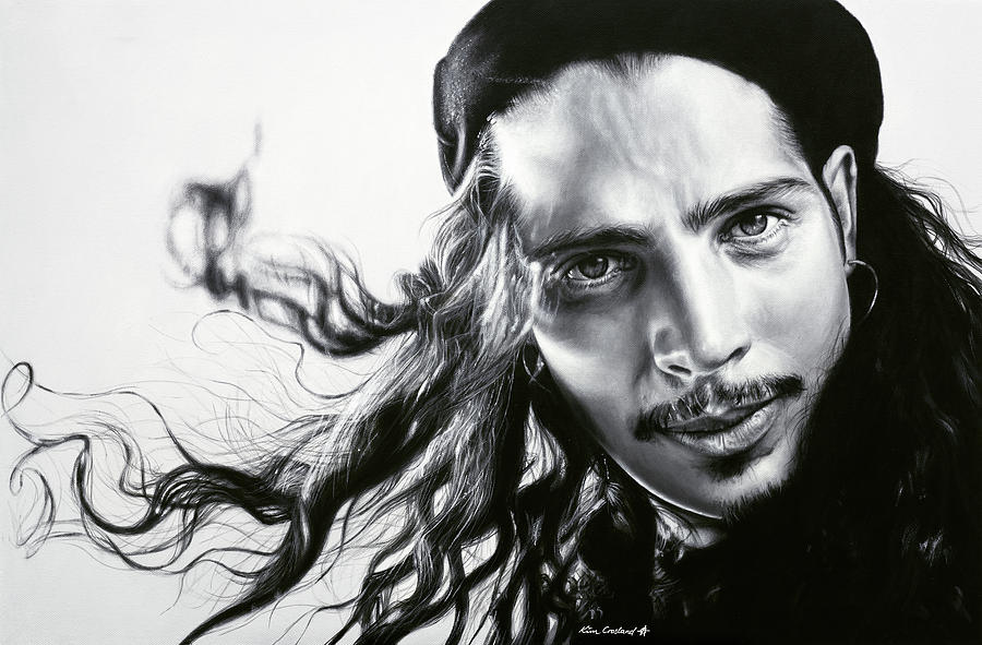 Chris Cornell Painting - Chris Cornell by Kim Crosland